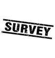 square grunge black survey stamp vector image vector image