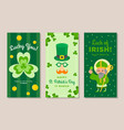st patricks day vertical banners set vector image