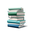 stack colorful books books various colors vector image vector image
