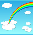 summer light rainbow background vector image vector image