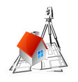 surveying land plans and registration housing vector image vector image