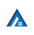 triangle roof business logo vector image