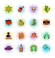 Wild West icons set vector image vector image