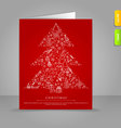 xmas card tree vector image vector image