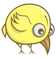 Yellow bird cartoon vector image