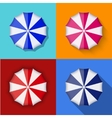modern umbrella icons set vector image