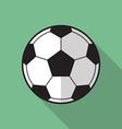 Football soccer ball flat icon vector image