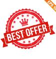 Grunge best offer rubber stamp - - EPS10 vector image
