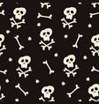 halloween seamless pattern with human skulls vector image