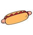 Hotdog symbol vector image