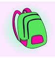 School bag Pop art vector image