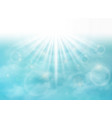abstract of clear pattern of clouds with sun vector image vector image