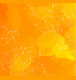 abstract space orange background chaotically vector image vector image