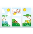 African Animals Cards vector image