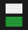 american football field templates vector image