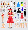big set for creation unique female character full vector image