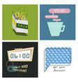 big super sale promotional set emblems in shape vector image vector image