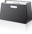 Black shopping bag vector image vector image