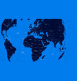 blue political map of the world flat vector image