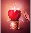 Box With Heart in retro style vector image vector image