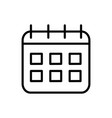 calendar reminder delivery icon thick line vector image