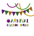 carnival mardi gras poster with colorful vector image vector image