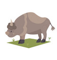 cartoon bison vector image