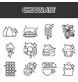 chocolate cartoon concept icons vector image vector image