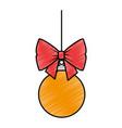 christmas ball hanging icon vector image