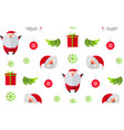 christmas seamless pattern happy holiday vector image vector image