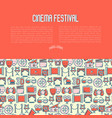 cinema festival concept with thin line icon vector image vector image