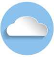 cloud icon paper style vector image vector image