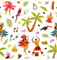 colorful traditional brazilian attributes seamless vector image vector image