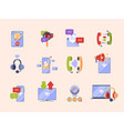 communication concept icon ads pictures for app vector image