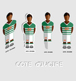 Cote dIvoire Soccer Team Sportswear Template vector image