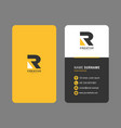 creative company business card template design vector image vector image