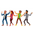 dancing people set active woman man vector image