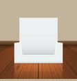 empty cardboard or visit card display box mockup vector image vector image