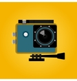 extreme action video digital camera vector image
