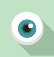eye ball icon flat style vector image