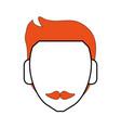 faceless man character vector image vector image