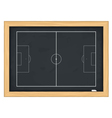 Football field on blackboard vector image
