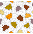 Funny poop hand drawn patch icon seamless pattern vector image vector image