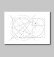 golden ratio section abstract vector image vector image