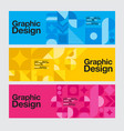 graphic design geometry shape blue banner vector image vector image