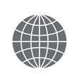 grey simple logo of the earth vector image