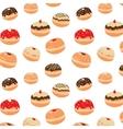 Hanukkah pattern with tasty dougnuts