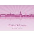 Harvard University skyline in purple radiant