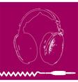 headphones outline design vector image