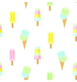 Ice cream seamless pattern Summer vector image vector image